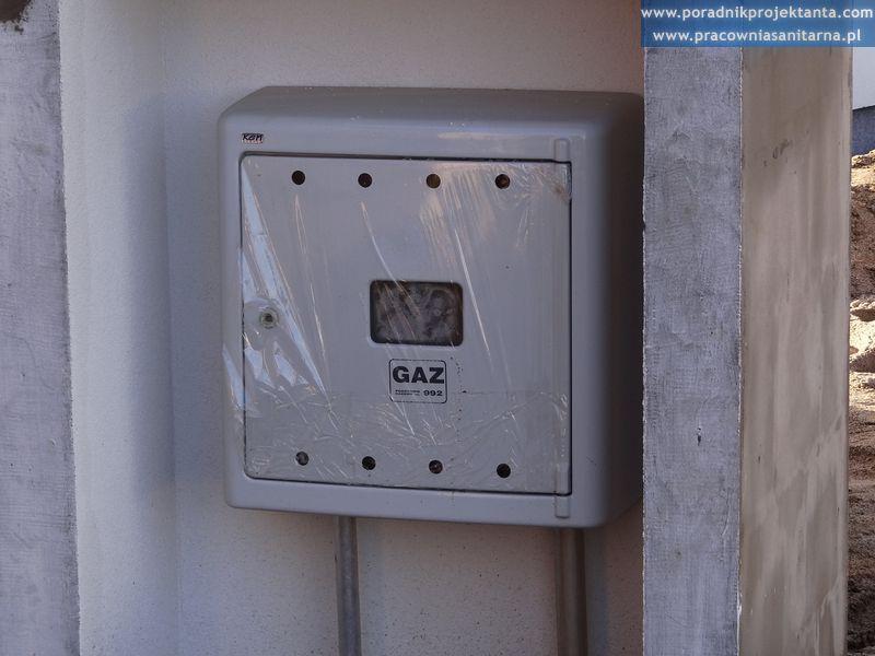 skrzynka gazowa w domu jednorodzinnym