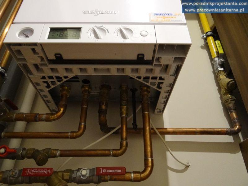 kocioł gazowy, podłączenie instalacji gazu