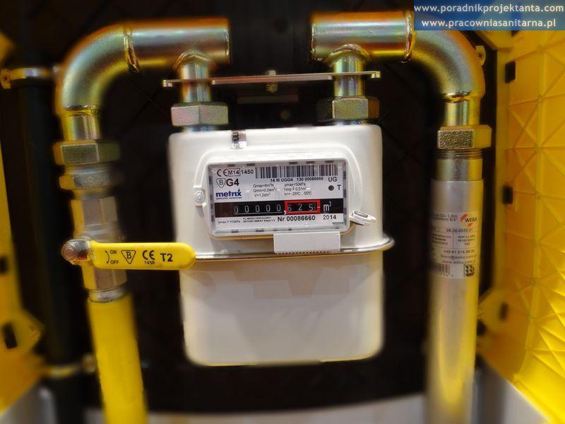 skrzynka gazowa, gazomierz Metrix bez reduktorem ciśnienia