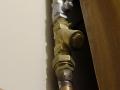 instalacja gazu, filtr gazowy skośny oraz zawór odcinający